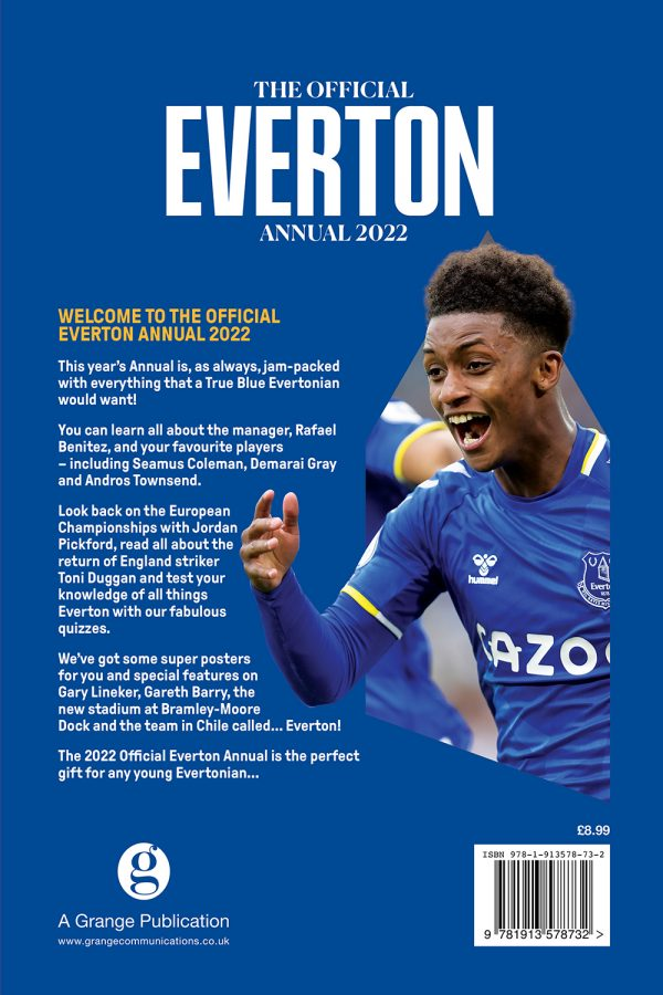 Official Everton Annual 2022 back