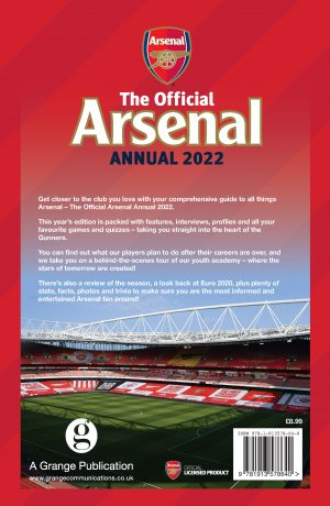 Official Arsenal Annual 2022 back