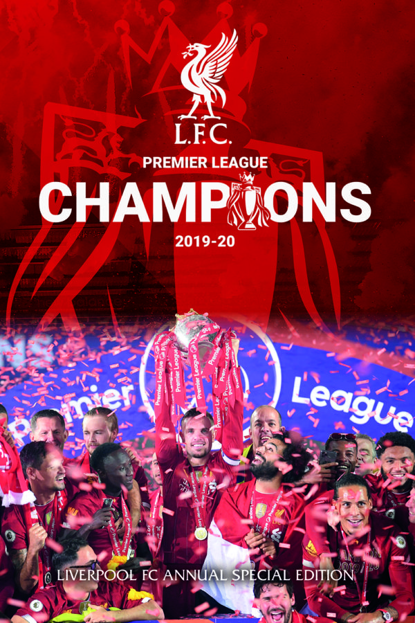 Cover image for the Liverpool Football Club Premier Champions League 2019-2020 Season Annual