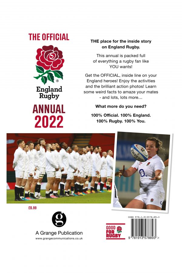 Official England Rugby Annual 2022 back