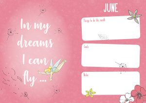 Disney Tinkerbell 2022 A6 Diary ins