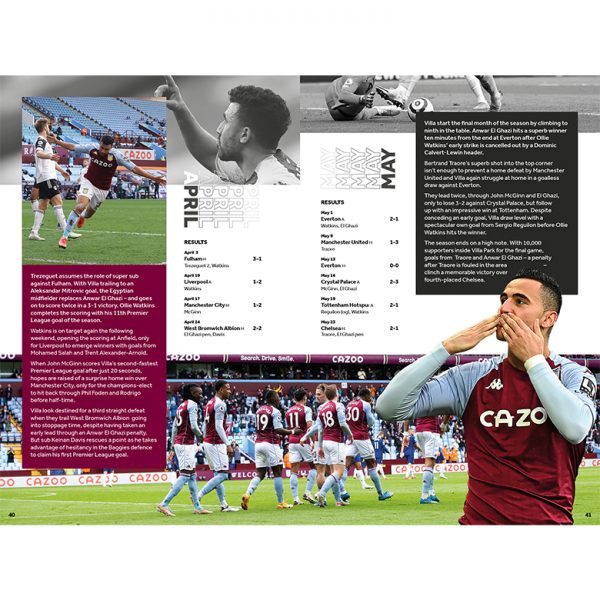Official Aston Villa Annual 2022 inside2