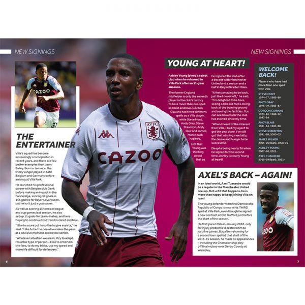 Official Aston Villa Annual 2022 inside1