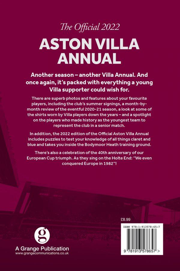 Official Aston Villa Annual 2022 back