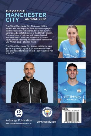 Official Manchester City FC Annual 2022 back