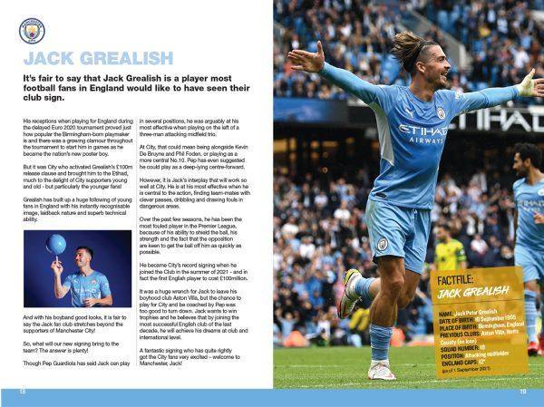 Official Manchester City FC Annual 2022 inside 1