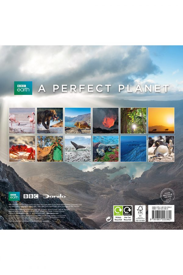 BBC Perfect Planet 2022 Square Wall Calendar BACK