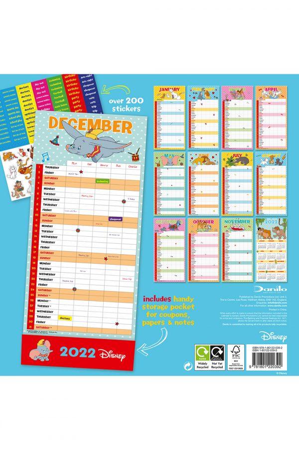 DISNEY-CLASSIC-FAMILY-ORGANISER-2022-back2