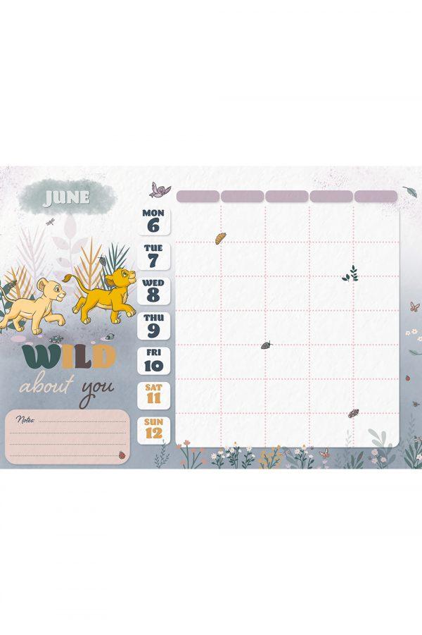 Disney Heritage 2022 Family Organiser A4 Wall Calendar INS