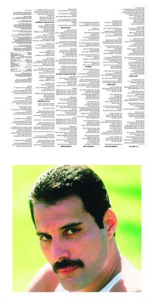 FREDDIE MERCURY - COLLECTORS EDITION - RECORD SLEEVE 2022 INS