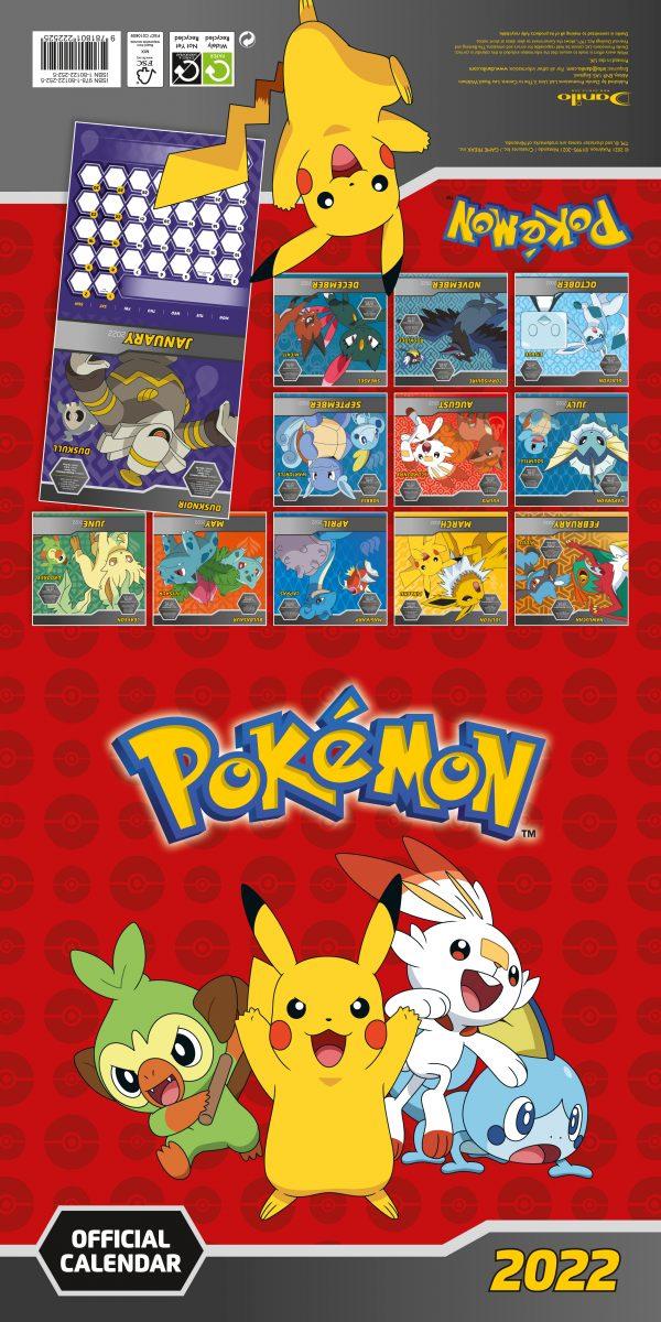 Pokemon 2022 Square Wall Calendar INS