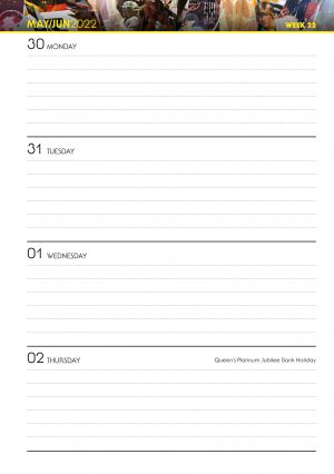 Official Star Wars 2022 A5 Diary INS