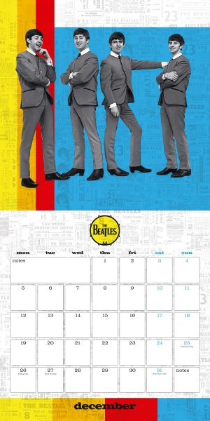 The Beatles 2022 square wall calendar INS