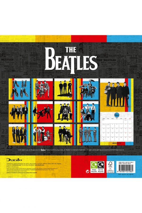The Beatles 2022 square wall calendar BACK