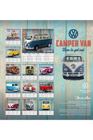 VW Volkswagen Camper Vans 2022 Desk Calendar BACK