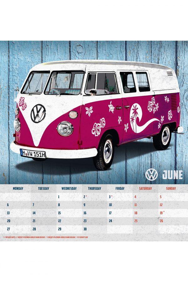 VW Volkswagen Camper Vans 2022 Desk Calendar INS