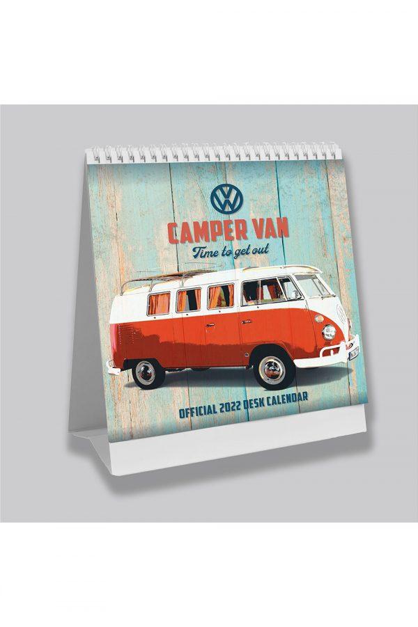 VW Volkswagen Camper Vans 2022 Desk Calendar