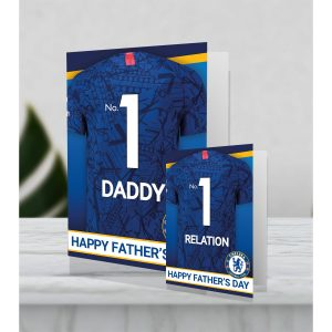 Giant Personalised Chelsea FC Father's Day Shirt Card