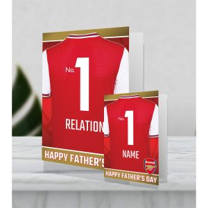 Personalised Arsenal shirt giant Father's Day Card