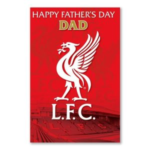 Liverpool Football Club Personalised Father's Day Card