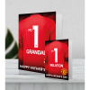 Giant Personalised Manchester United FC Father's Day Shirt Card