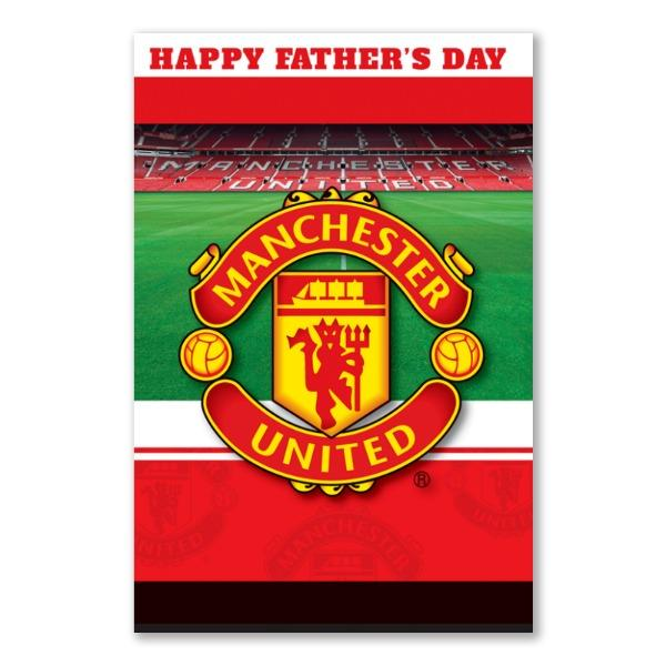 Manchester United Father's Day Personalised Stadium Card