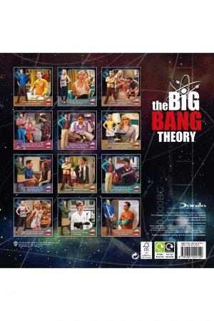 The Big Bang Theory 2022 Square Wall Calendar Back