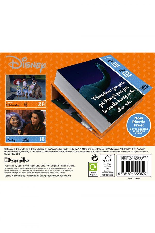 Disney Animation 2022 Desk Block Page-a-day Calendar back