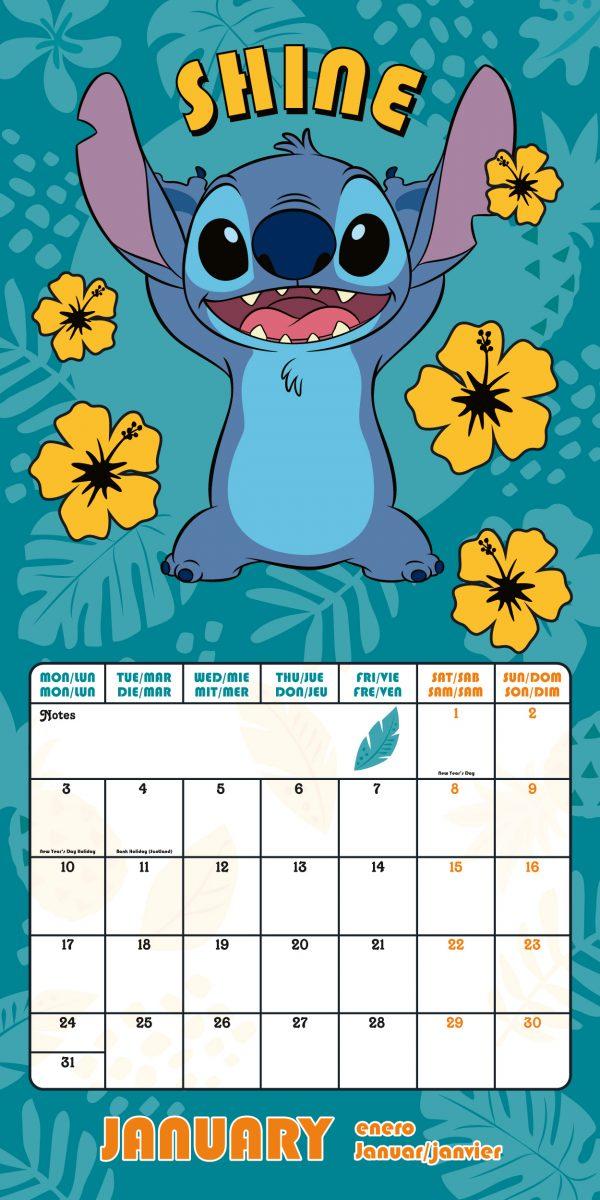 Lilo & Stitch 2022 Square Wall Calendar INS