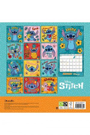 Lilo & Stitch 2022 Square Wall Calendar BACK