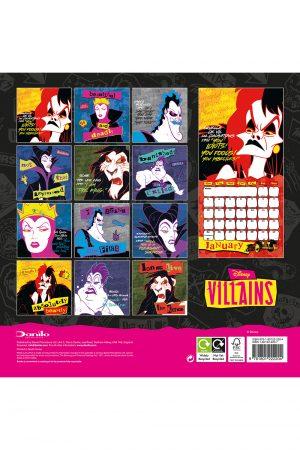 Disney Villains 2022 Square Wall Calendar BACK