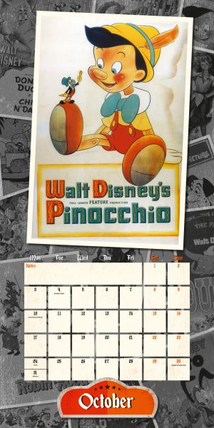 Disney Vintage Posters 2022 Square Wall Calendar INS