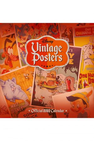 Disney Vintage Posters 2022 Square Wall Calendar