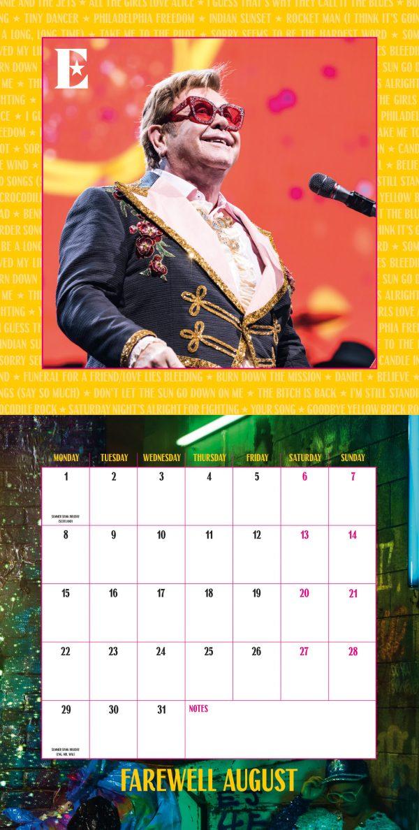 Elton John Collector's Edition 2022 Square Wall Calendar INS