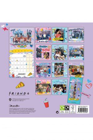 Friends 2022 Square Wall Calendar BACK