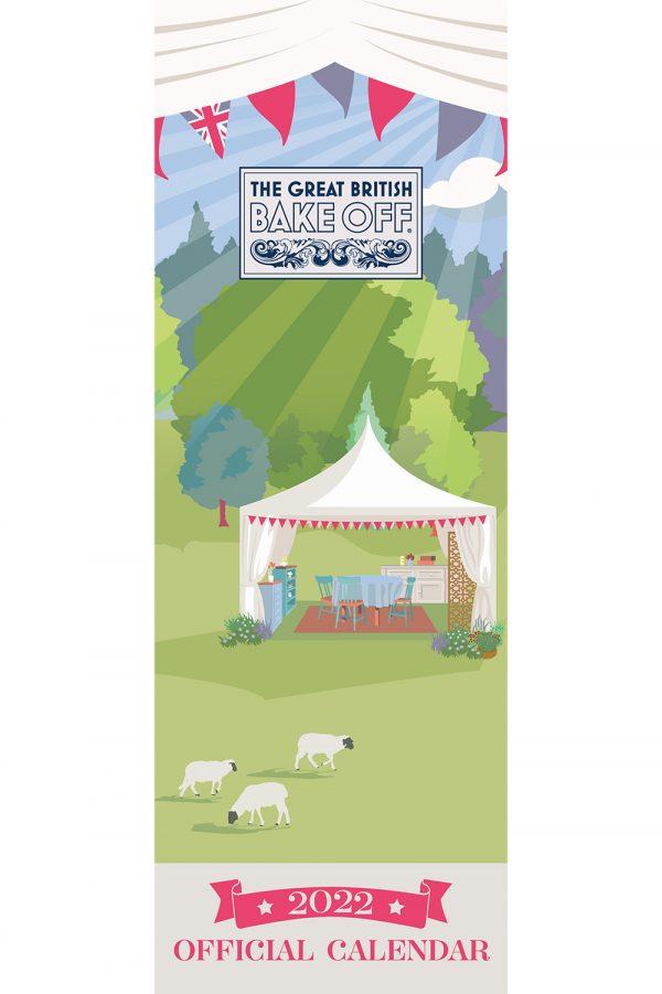 Great British Bake Off 2022 Slim Wall Calendar