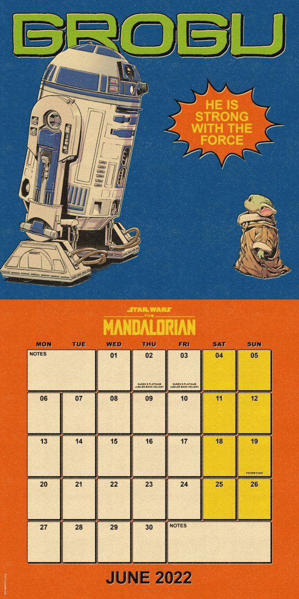 The Mandalorian: The Child 2022 Square Wall Calendar INS