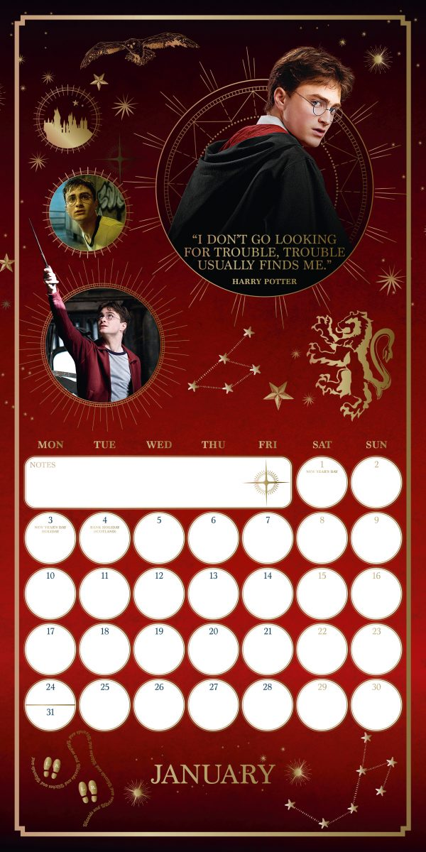 Harry Potter 2022 Square Wall Calendar INS