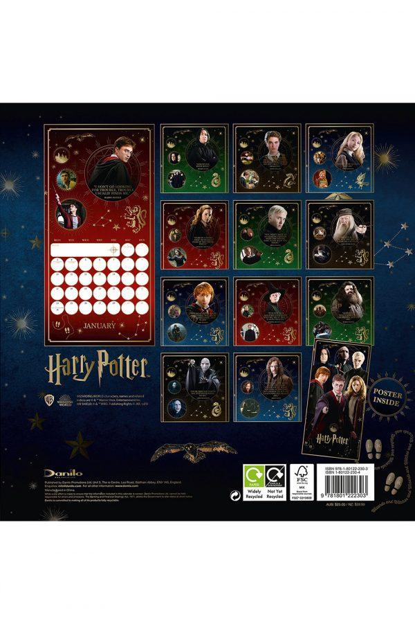 Harry Potter 2022 Square Wall Calendar BACK