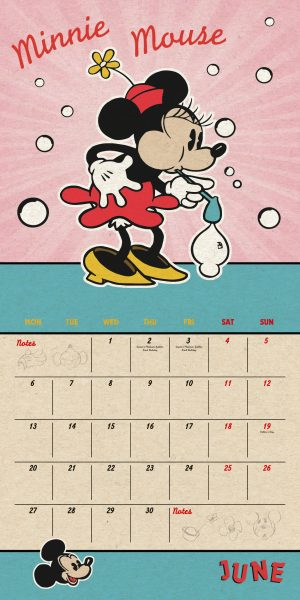 Disney Mickey Mouse 2022 Square Wall Calendar INS