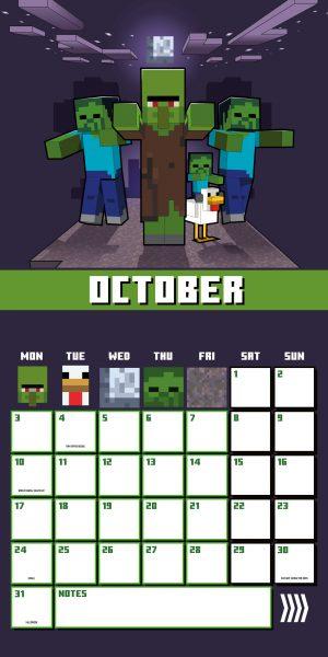 Minecraft 2022 Square Wall Calendar INS