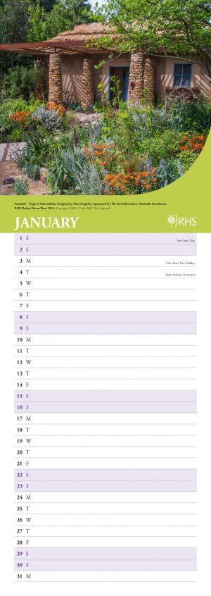 RHS Chelsea Flower Show 2022 Slim Wall Calendar INS