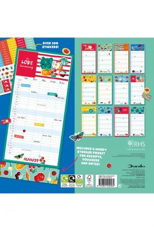 Royal Horticultural Society (RHS) 2022 Family Organiser Calendar BACK