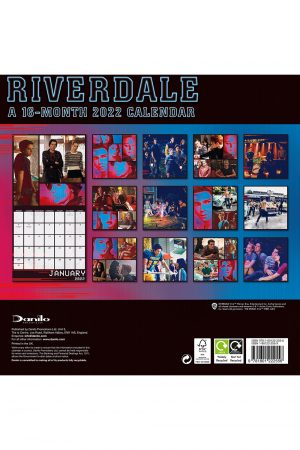 Riverdale 2022 Square Wall Calendar BACK
