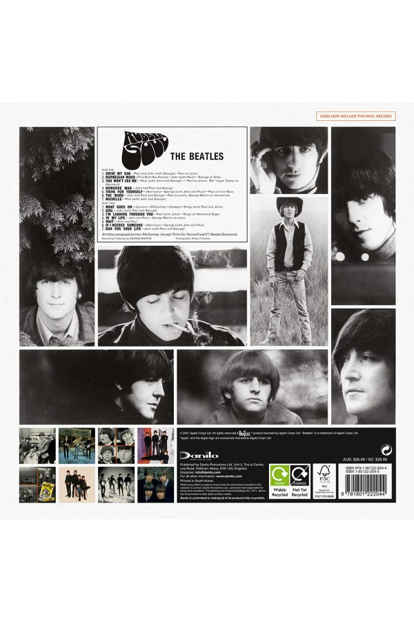 The Beatles Collector's Edition 2022 Square Wall Calendar BACK