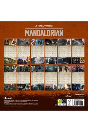 The Mandalorian 2022 Square Wall Calendar BACK