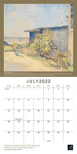 Van Gogh 2022 Square Wall Calendar INS