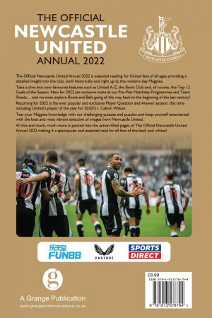 Official Newcastle United Annual 2022 back