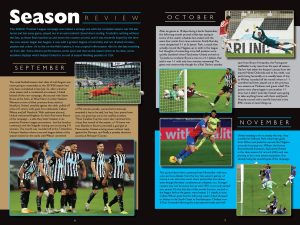 Official Newcastle United Annual 2022 inside