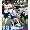 Personalised England Birthday Card